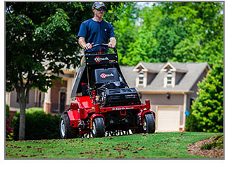 Aerating & Plugging - Cutting Edge Lawn & Property Services